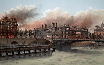 incendie de l'hôtel de ville 24 mai 1871
