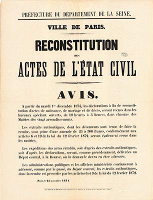 reconstitution des actes de Paris