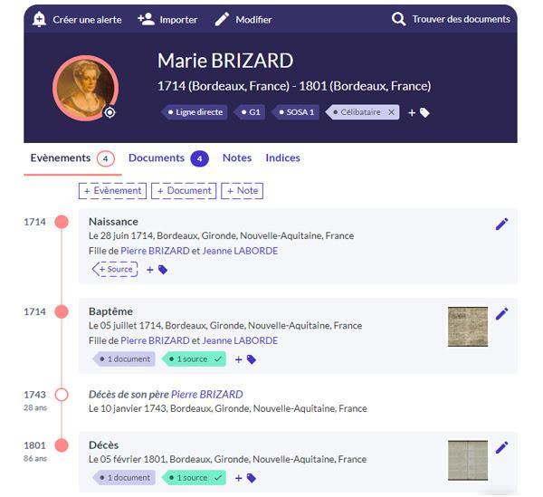 brizard-marie-chronologie