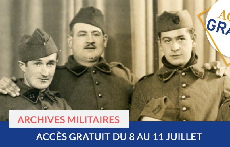 Accès gratuit : archives militaires
