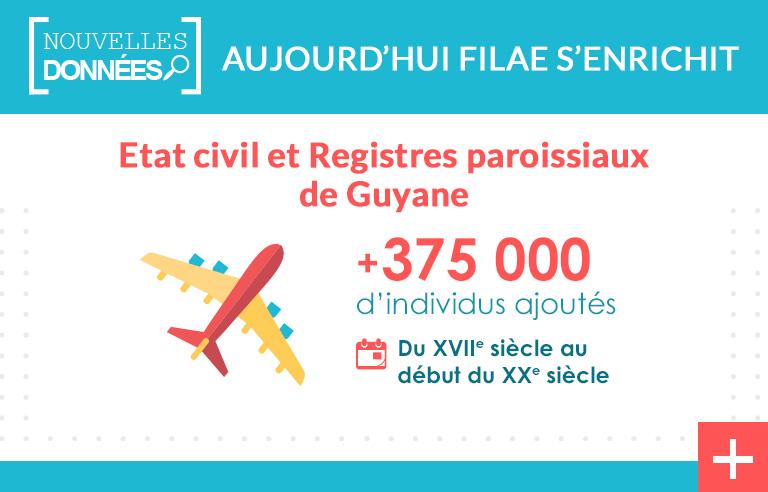 Registres paroissiaux et état civil de Guyane indexés !