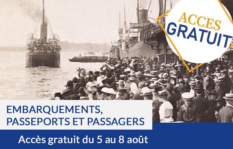 Accès gratuit : Embarquements, Passeports, Passagers