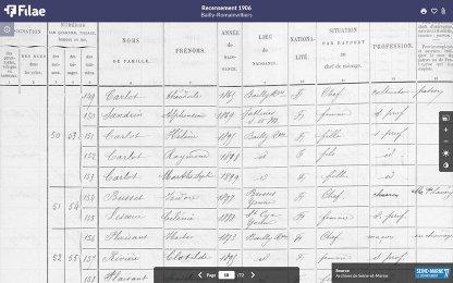 acte de recensement